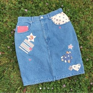 DEADSTOCK Cambridge Country Store patriotic skirt